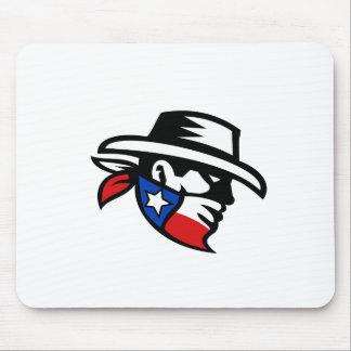 Tapis De Souris Côté de cowboy de bandit du Texas rétro