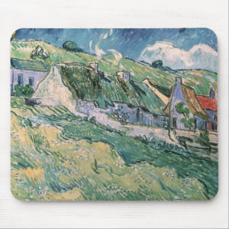 Tapis De Souris Cottages de Vincent van Gogh | à l'Auvers-sur-Oise