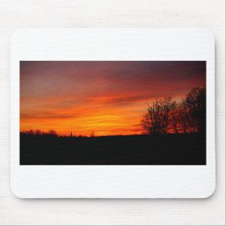 Tapis De Souris Coucher du soleil de janvier sur l'île de St