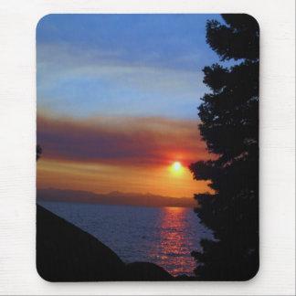 Tapis De Souris Coucher du soleil du lac Tahoe