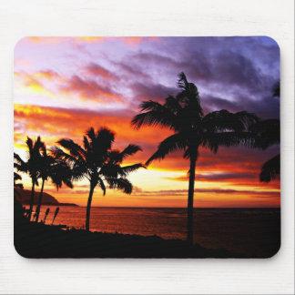 Tapis De Souris Coucher du soleil hawaïen