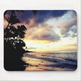 Tapis De Souris Coucher du soleil Mousepad de plage de Maui