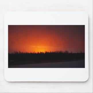Tapis De Souris Coucher du soleil rouge de lueur