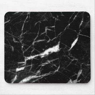 Tapis De Souris Couleur de marbre noire Mousepad, couleur de