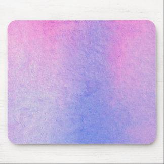 Tapis De Souris Couleur pour aquarelle de marbre rose et bleue