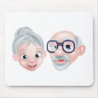 Tapis De Souris Couples pluss âgé heureux de bande dessinée