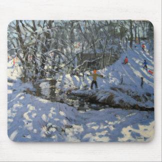 Tapis De Souris Courant Derbyshire d'hiver