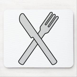 Tapis De Souris Couteau et fourchette croisés