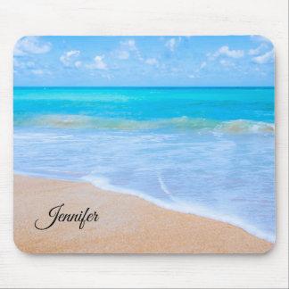 Tapis De Souris Coutume tropicale de photo de scène de plage
