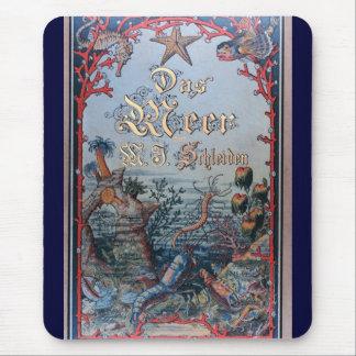 Tapis De Souris Couverture de livre nautique vintage de victorian