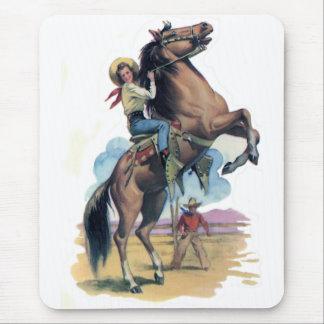 Tapis De Souris Cow-girl sur le cheval
