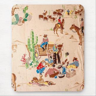 Tapis De Souris Cowboys - papier peint vintage - ouest sauvage