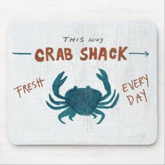 Tapis De Souris Crabe côtier Shack de l'art |