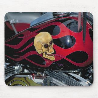 Tapis De Souris Crâne de motocycle - réservoir de carburant