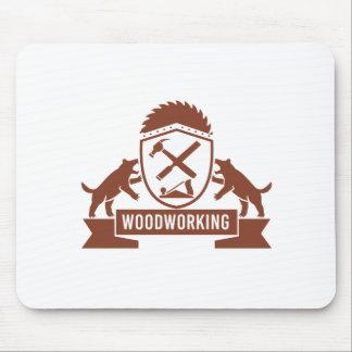 Tapis De Souris Crête de travail du bois de diable tasmanien rétro