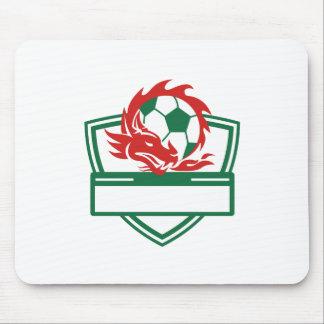 Tapis De Souris Crête rouge de ballon de football de dragon
