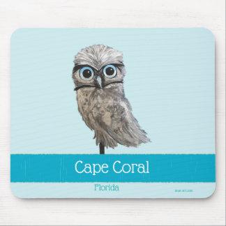 Tapis De Souris Creuser le corail FL de cap de peinture de hibou