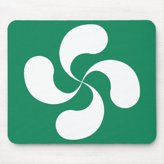 "Tapis de Souris Croix Basque fond Vert ""Lauburu"""