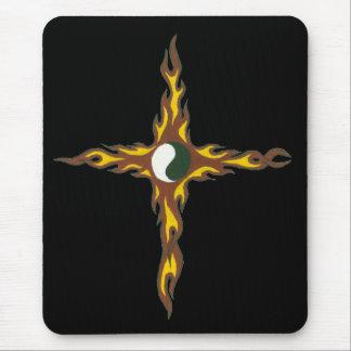 Tapis De Souris Croix du feu de Yin Yang