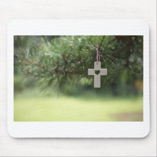 Tapis De Souris croix et coeur