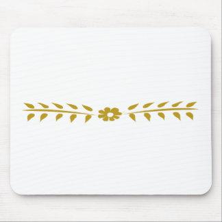 Tapis De Souris Cru simple mignon floral de motif scandinave