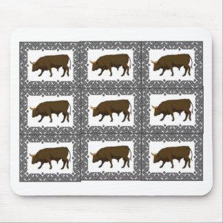 Tapis De Souris cubes bruns en taureaux