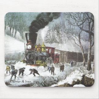 Tapis De Souris Currier et mousepad bloqué par la neige de scène