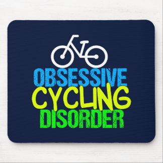 Tapis De Souris Cycliste de recyclage obsédant de désordre