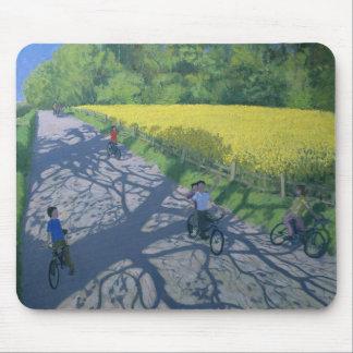 Tapis De Souris Cyclistes et champ jaune Kedleston Derby