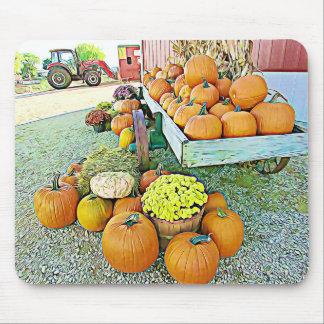 Tapis de souris d'affichage d'automne de support