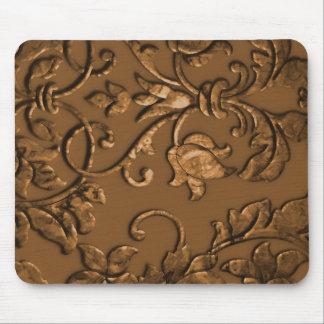 Tapis De Souris Damassé métallique de relief, cuivre