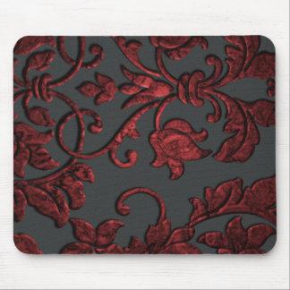 Tapis De Souris Damassé métallique de relief, rouge