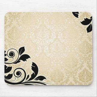 Tapis De Souris Damassé romantique Mousepad d'or de luxe