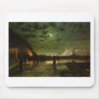 Tapis De Souris Dans le péril par John Atkinson Grimshaw