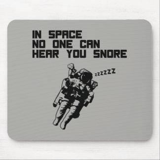 Tapis De Souris Dans l'espace personne peut vous entendre ronfler