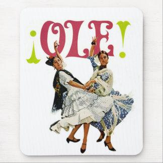 Tapis De Souris Danseurs espagnols de flamenco de rétros femmes