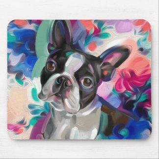 Tapis de souris d'art de chien de Boston Terrier