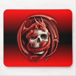 tapis de souris de crâne de dragon