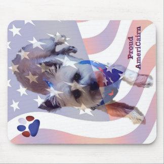 Tapis de souris de fierté de drapeau de Terrier de