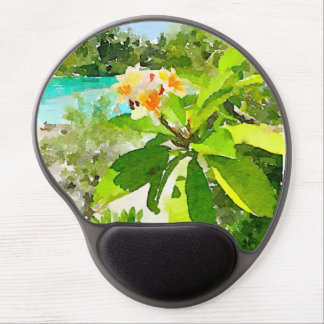 Tapis de souris de fleur d'aquarelle