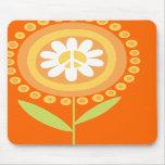 Tapis de souris de fleur de paix