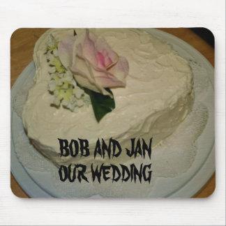 Tapis de souris de gâteau de mariage