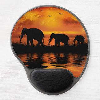 Tapis de souris de gel de safari d'éléphant