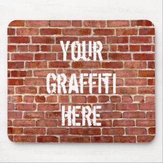 Tapis de souris de graffiti personnalisé par mur