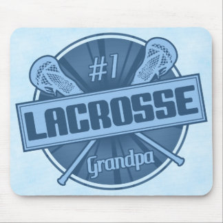 Tapis de souris de grand-papa de lacrosse du