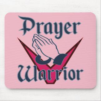 Tapis de souris de guerrier de prière pour les