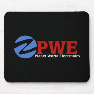 Tapis de souris de noir de l'électronique du monde