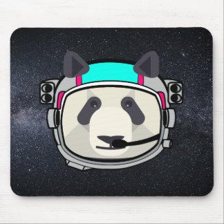 Tapis de souris de panda d'astronaute