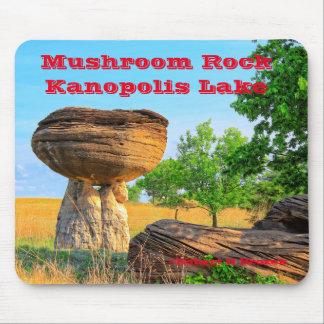 Tapis de souris de parc de roche de champignon