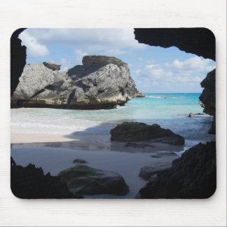 Tapis de souris de plage rocheuse